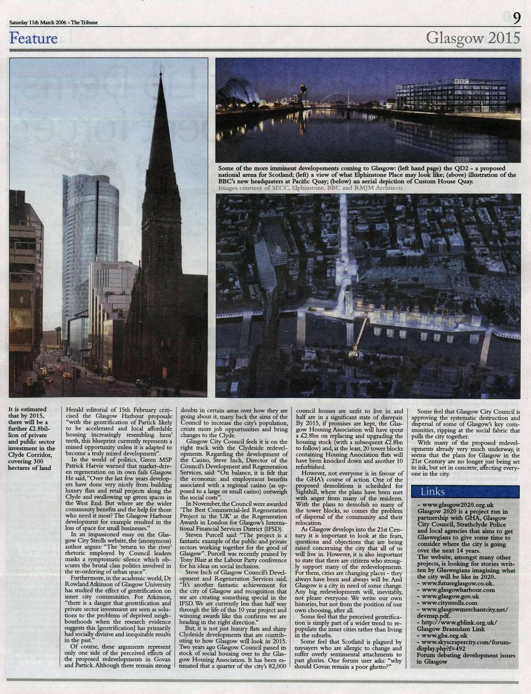 the problems of glasgows inner city essay